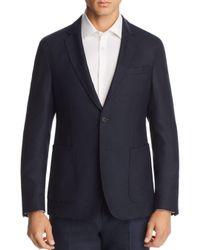 BOSS Blue Hooper Basketweave Washable/travel Slim Fit Sport Coat for men