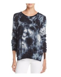 Pam & Gela - Multicolor Tie-dye Side-tie Sweatshirt - Lyst