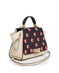 Zac Zac Posen Multicolor Eartha Iconic Floral Soft Top Handle Leather Satchel