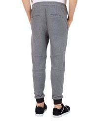 The Kooples - Gray Tricolored-cuff Regular Fit Sweatpants for Men - Lyst
