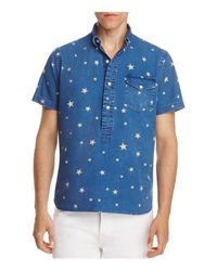 Polo Ralph Lauren | Blue Classic Fit Popover Shirt for Men | Lyst