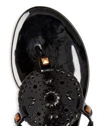 Jack Rogers Black Georgica Jelly Thong Sandals