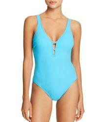 Gottex - Blue Java V-neck One Piece Swimsuit - Lyst