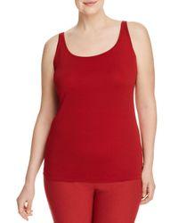 Eileen Fisher - Red Silk Scoop-neck Cami - Lyst