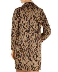 BOSS by Hugo Boss Brown Cetakata Animal - Print Coat