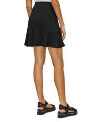 Whistles Black Ottoman Jersey Flippy Skirt