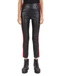 The Kooples Black Lizzy Striped Faux - Leather Pants