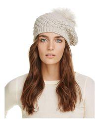 Echo Multicolor Fur Pom-pom Knit Beret