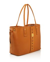 MCM Brown Project Reversible Leather Tote