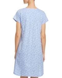 Eileen West - Blue Floral Sleepshirt - Lyst