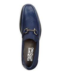 Ferragamo Blue Grandioso Loafers for men