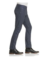 G-Star RAW Blue Elwood X25 Pinstripe New Tapered Fit Jeans By Pharrell Williams for men