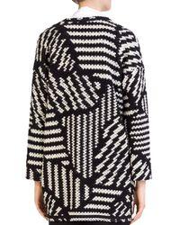 Gerard Darel - Black Marla Graphic - Knit Jacket - Lyst