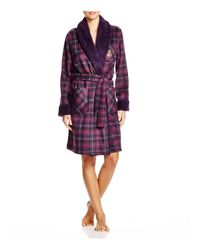 Ralph Lauren - Purple Lauren Bonded Sherpa Short Shawl Collar Robe - Lyst