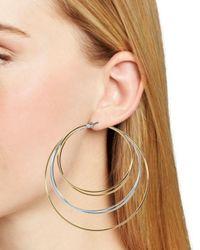 BaubleBar - Metallic Rielle Layered Hoop Earrings - Lyst
