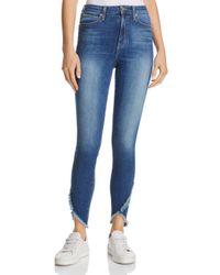 Joe's Jeans Blue The Charlie Frayed Tulip Hem Jeans In Michela