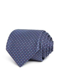 BOSS Blue Dotted Grid Classic Tie for men