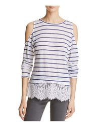 Generation Love | Multicolor Martha Striped Top With Lace-hem | Lyst