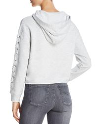 Marc New York Multicolor Performance Lace - Up Cropped Hoodie