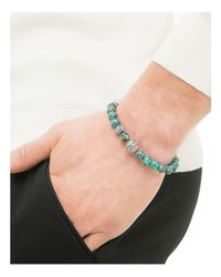 John Hardy - Blue Men's Sterling Silver Classic Chain Large Beaded Bracelet With Turquoise for Men - Lyst