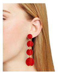 BaubleBar   Red Criselda Ball Drop Earrings   Lyst
