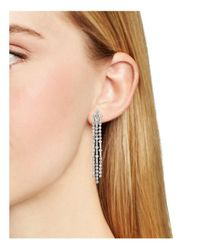 Nadri - Metallic Gloria Fringe Earrings - Lyst
