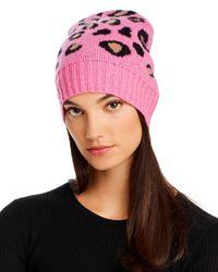 Aqua Multicolor Leopard Cashmere Hat
