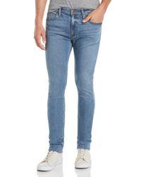 PAIGE Blue Croft Skinny Fit Jeans In Keller for men