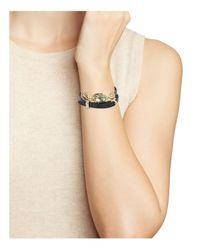 Alexis Bittar - Black Studded Golden Array Wrap Bracelet - Lyst