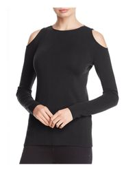 Lafayette 148 New York - Black Cold Shoulder Wool Sweater - Lyst