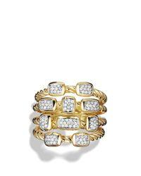 David Yurman - Metallic Confetti Ring With Diamonds In Gold - Lyst