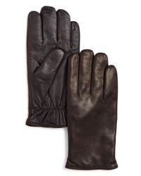 Bloomingdale's Brown Cashmere - Lined Basic Tech Gloves for men