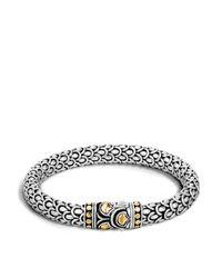 John Hardy - Metallic Sterling Silver And 18k Bonded Gold Naga Medium Chain Bracelet - Lyst