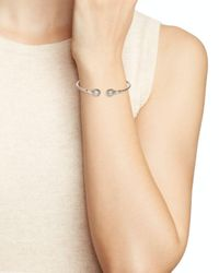 Nadri - Metallic Cubic Zirconia Hinge Bracelet - Lyst