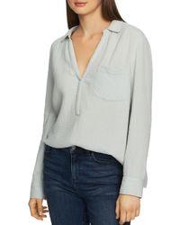 1.STATE Gray Textured Shirt