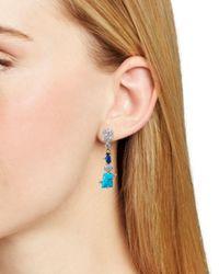 Alexis Bittar - Blue Dangle Stone Earrings - Lyst