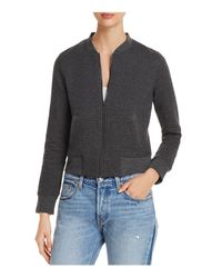 Marc New York - Gray Performance Ribbed Knit Bomber Jacket - Lyst