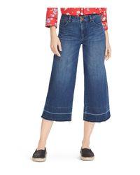 Ralph Lauren - Blue Lauren Released-hem Cropped Wide-leg Jeans - Lyst