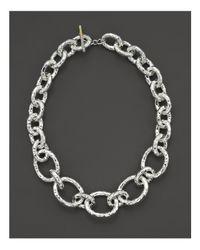 "Ippolita | Metallic Sterling Silver ""bastille"" Chain Necklace | Lyst"