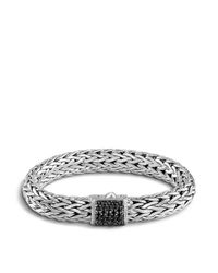 John Hardy | Metallic Classic Chain Sterling Silver Lava Large Bracelet With Black Sapphire | Lyst