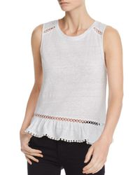 Generation Love - White Milah Lace-inset Flounced Tank - Lyst