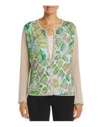 Basler - Multicolor Leaf Print Cardigan - Lyst