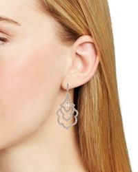 Carolee - Metallic Scalloped Drop Earrings - Lyst