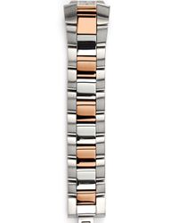 Philip Stein Metallic Stainless Steel/rose Goldplated Watch Bracelet, 18 Mm Or 20 Mm
