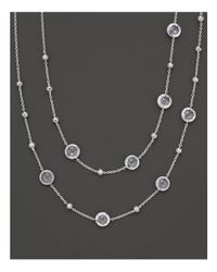 Ippolita | Metallic Sterling Silver Rock Candy Mini Lollipop Necklace In Clear Quartz, 37"