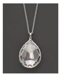 Ippolita | Metallic Sterling Silver Rock Candy® Large Teardrop Pendant Necklace In Clear Quartz | Lyst