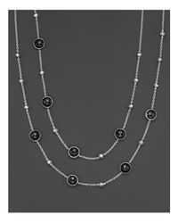 Ippolita | Metallic Sterling Silver Rock Candy Mini Lollipop And Ball Necklace In Black Onyx | Lyst