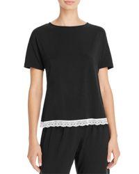 Cosabella Black Majestic Short Sleeve Top