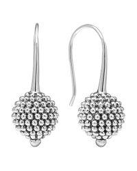 "Lagos | Metallic Sterling Silver ""columbus Circle On Kidney"" Earring | Lyst"