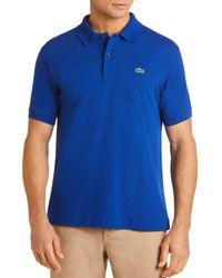 Lacoste Blue Classic Fit Piqué Polo Shirt for men
